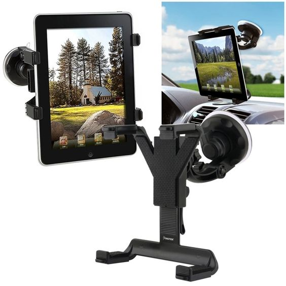 Insten Windshield Holder Compatible With iPad Mini 3 / iPad Air 2 / Samsung Galaxy Tab 2 7.0 P3100, Black. Hit the road with a windshield mount for your Samsung© Galaxy Tab 2 7.0 P3100. Width: 3.86 to 7 inch (fully extended arms) / 98 to 117.8 mm (fully extended arms). Includes: Samsung© Galaxy Tab 2 7.0 P3100 holder; Windshield mount with 180 degree rotatable holder - Clamping vacuum base attaches to windshield. Color: Black. Accessory ONLY, device not included.All rights reserved. All...