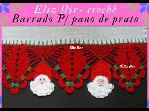 Barrado Em Croche Modelo 152 Youtube Com Imagens