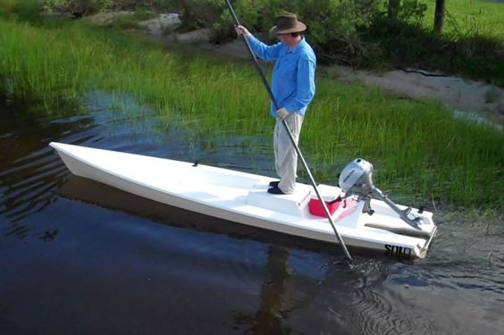 Solo skiff the one man powered boat a fishing kayak for Solo fishing canoe