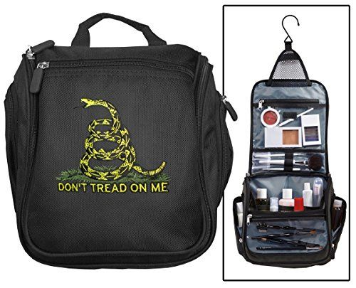 Don't Tread on Me Toiletry Bag or Tea Party Flag Shaving Kit Travel Bags * Learn more by visiting the image link.