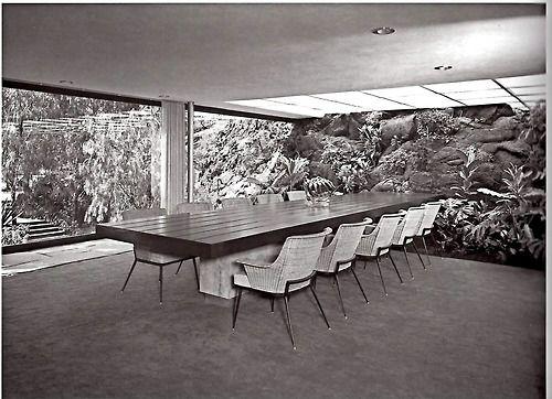 Casa Luis Bustamante, Jardines del Pedregal, México DF 1956 Arq - interieur design studio luis bustamente