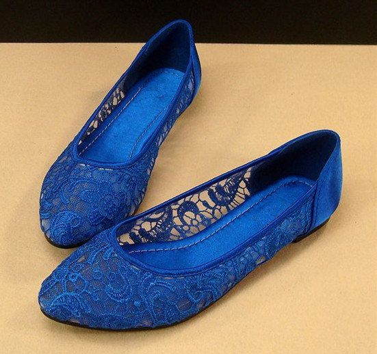 blue wedding shoes flats lace ballet flat shoes royal blue lace shoes