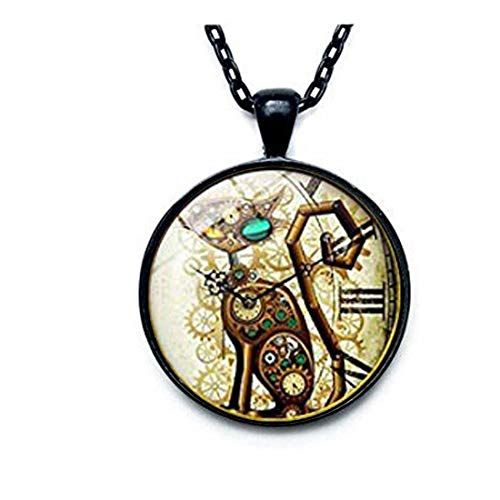 Steampunk pendant Cat Steampunk jewelry Cat jewelry Steampunk cat gift for girlfriend mothers day gift birthday wife valentines day gift