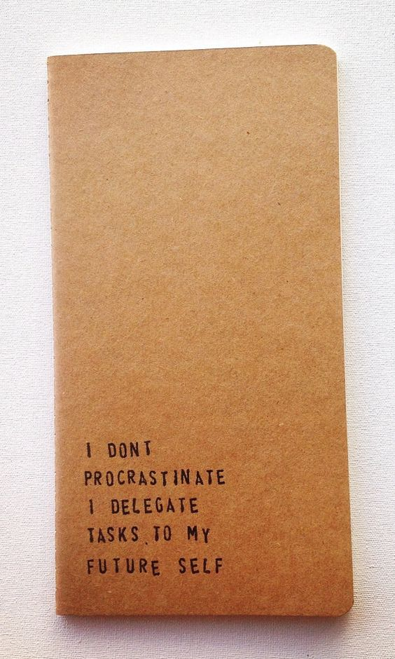 This beautifully honest notebook. | 19 Products All Self-Confessed Procrastinators Should Probably Buy,...ly