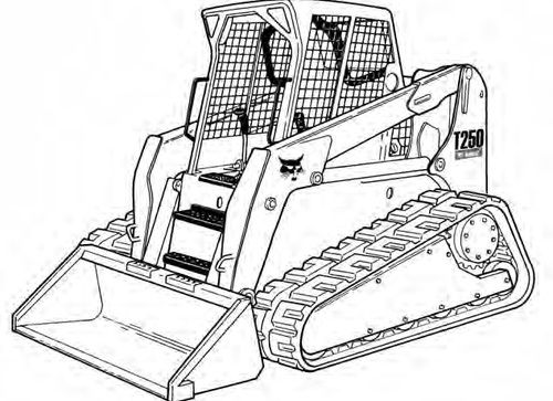 Bobcat T250 Compact Track Loader Service Repair Manual A5gs11001
