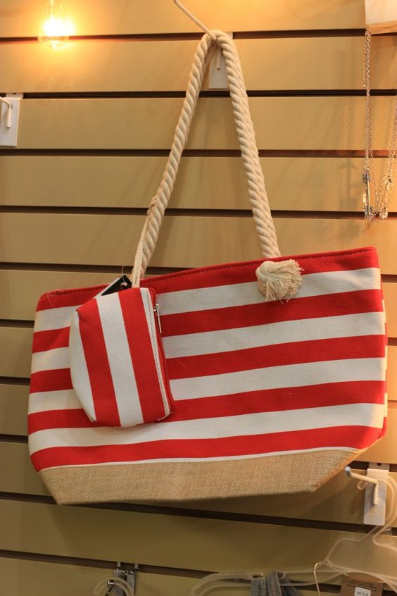 Nautical Stripes Fashion Tote