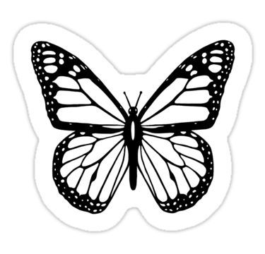 Butterfly Black And White Butterfly Sticker Black Stickers Butterfly Black And White White Stickers