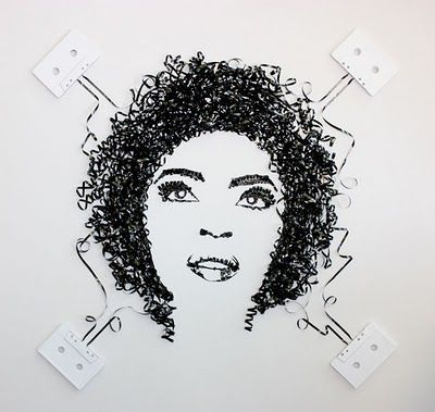 Lauryn Hill made with tape