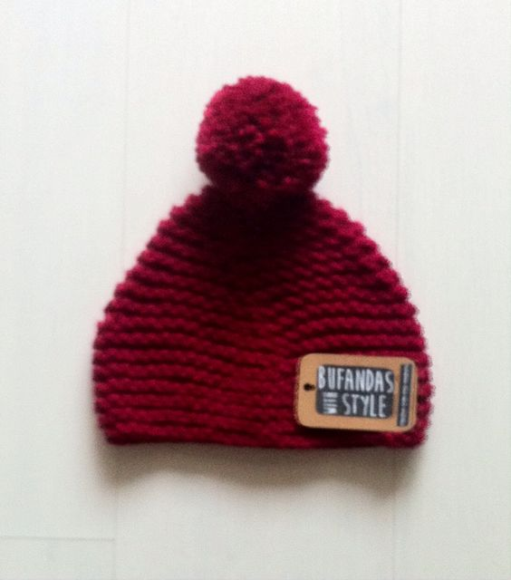 Gorro granate de Bufandas With Style
