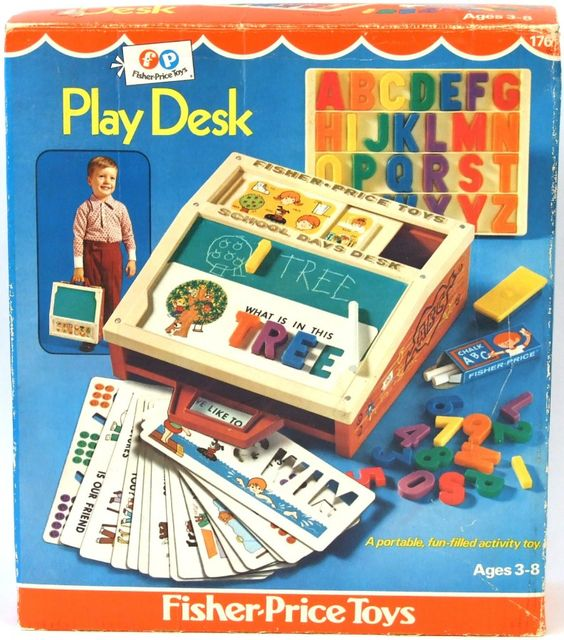 """Fisher Price Play Desk - Our """"laptop"""" as kids!"""