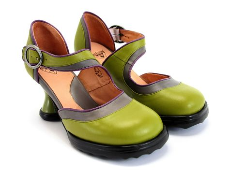 Check out the Fluevog Elif  - www.fluevog.com - some wicked shoes! Adorable in the black and white - but AWESOME in the green!