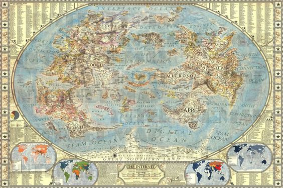 This Mythical Map Of The Internet Is Brilliant via BusinessiNsider