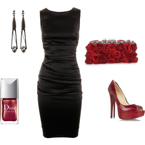 black and red...simple yet classy