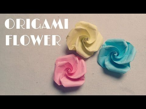 origami facile fleur youtube