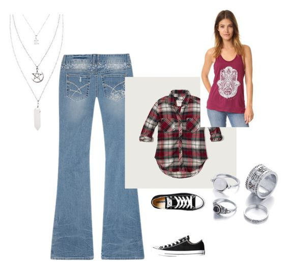 """""""fall"""" by courtneyhatton on Polyvore featuring Amethyst Jeans, Abercrombie & Fitch, Converse and Spiritual Gangster"""