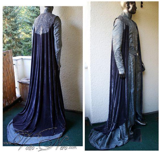 Thranduil Starlight Robe - The Hobbit Costume Elven King of Mirkwood – Volto Nero Costumes
