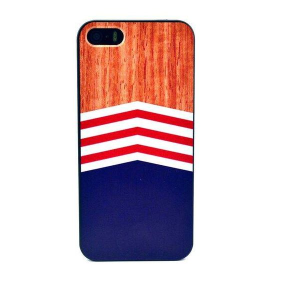 Stylish wood & chevron hoesje voor iPhone 5 / 5S