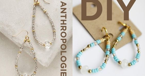 hello, whimsy.: DIY: ANTHROPOLOGIE CRYSTAL TEARDROP HOOPS