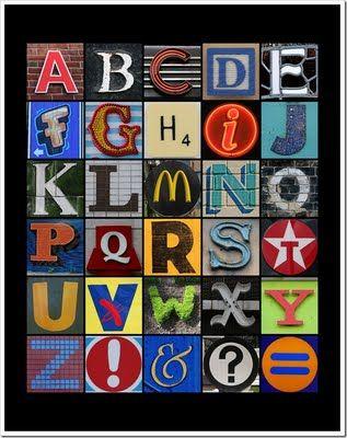 alphabet/ Leuk project voor de kinderen in de vakantie!