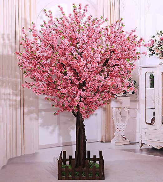 J Beauty Artificial Cherry Blossom Tree Huge Size Cherry Blossom Tree For Wedding High School In 2020 Peach Blossom Tree Artificial Cherry Blossom Tree Peach Blossoms