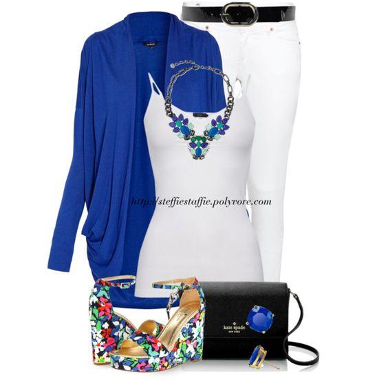 Floral Wedges, Cobalt Blue & Black