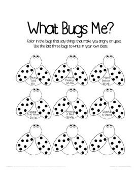 An Anger trigger worksheet for kids to help identify what makes them ...