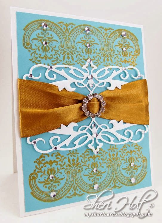 filigree die cuts are cut with JustRite's Heirloom Flourish One die