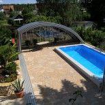 Hochwertige Poolüberdachungen und Schwimmbadüberdachungen nach Maß, Pools und Schwimmbecken für kleine und große Flächen, Schwimmbadzubehör