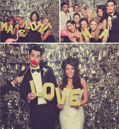 i love the cut out letters and the groom's bowtie