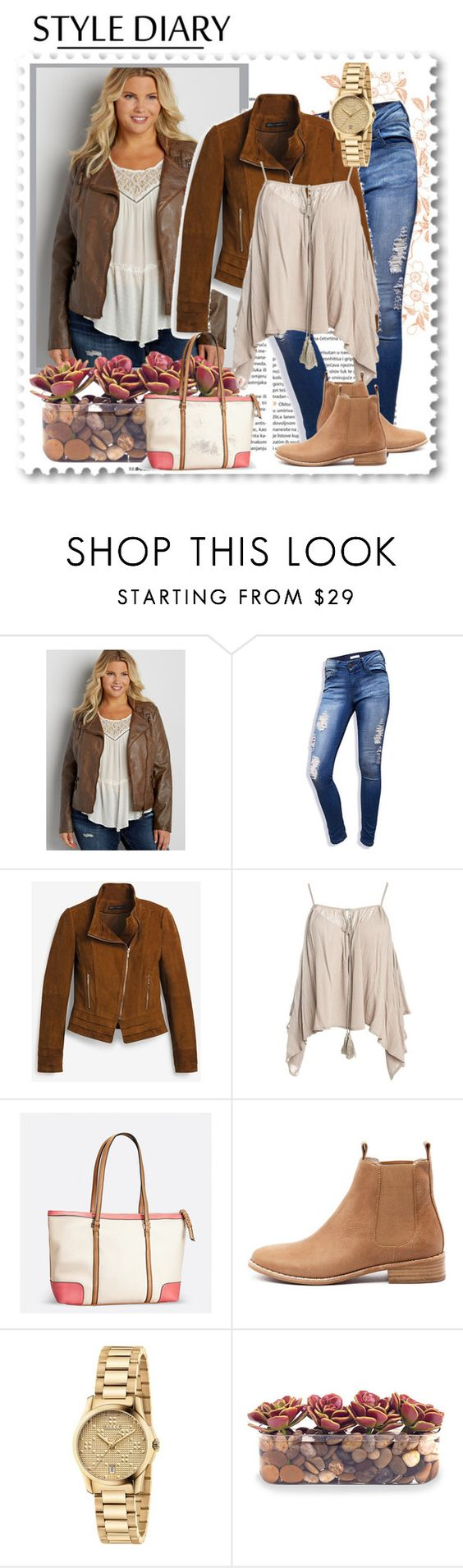 """""""Casual"""" by marta-spinto ❤ liked on Polyvore featuring maurices, Skylton, White House Black Market, Sans Souci, Avenue, Mollini, Gucci and John-Richard"""