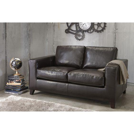 2 Seater Split Leather Sofa Kennedy