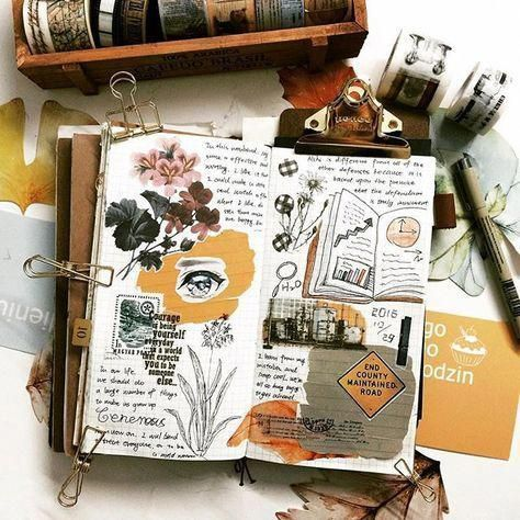 Travel Journal Pages And Scrapbook Inspiration Ideas For Travel Journaling Ar In 2020 Scrapbook Journal Travel Journal Pages Bullet Journal Art