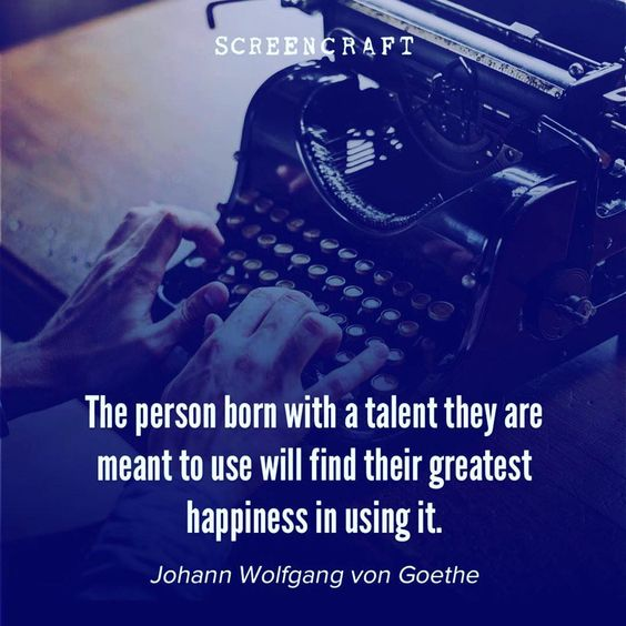 Are you using your talent?👌#writing #screenwriting #scriptwriting #filmmaking #writersofinstagram #quotes