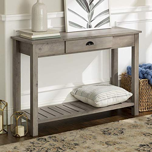Best Seller Walker Edison Azf48cyetgw Country Style Entry Console Table 48 Inch Grey Wash Online In 2020 Living Room Furniture Console Table Furniture