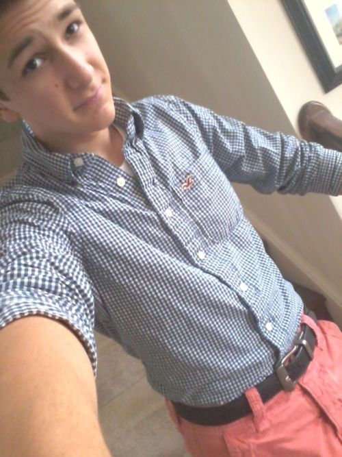 Me pairing red shorts with blue button up, sucsess