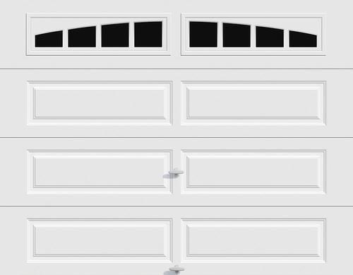 Ideal Door Traditional White Insulated Garage Door With Windows At Menards Ideal Door Reg Traditional 8 With Images Garage Door Windows House Floor Plans Garage Doors