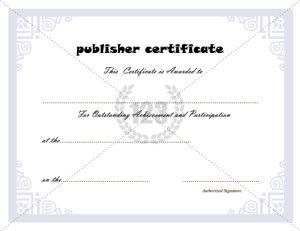 Image Result For Certificate Of Participation Template Editable