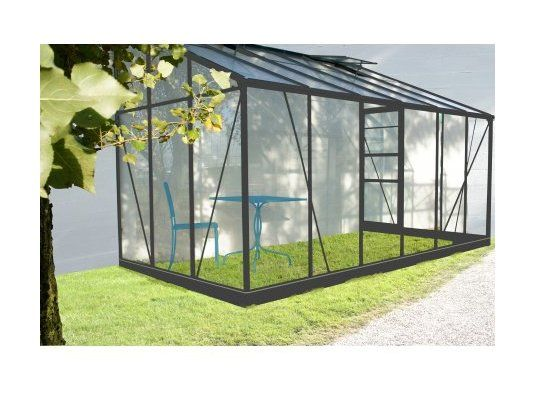Serre Verre 9 61 M2 Solarium Grise Adossable 3700265804432 Serre Jardin Chalet De Jardin Veranda En Verre