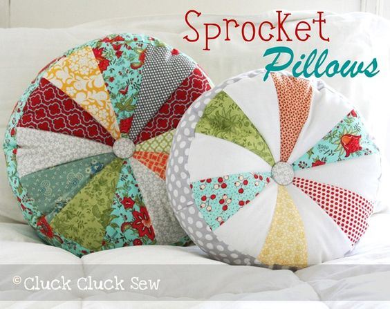 Cute pillows from scraps