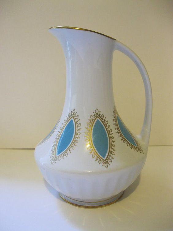 Mid Century Modern Royal Porcelain Ewer Pitcher by Sisters2Vintage, $16.00
