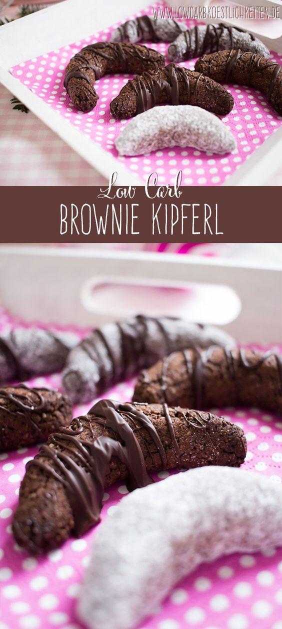 In der Weihnachtsbäckerei: Low Carb Brownie Kipferl www.lowcarbkoestlichkeiten.de
