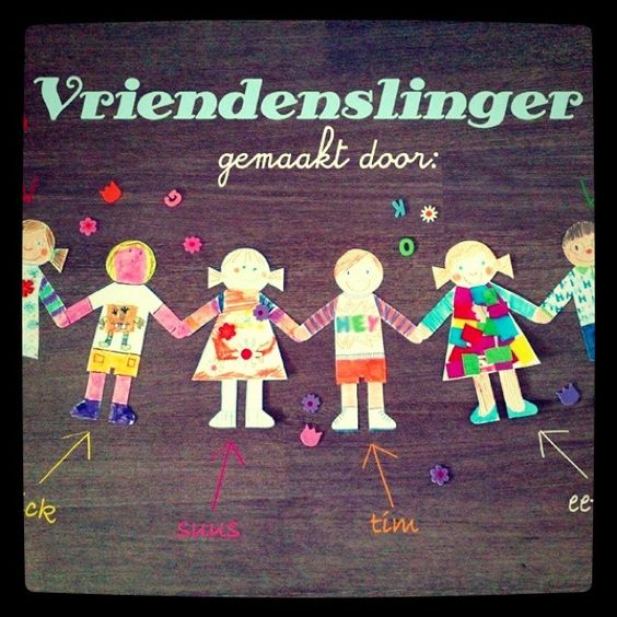 Vriendenslinger, om gezellig samen te in elkaar te knutselen!  www.studiostiftshop.nl