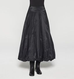 Taffeta balloon skirt - front view