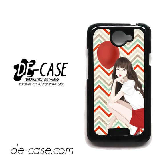 Beautiful Girl With Her Balloon For HTC One X Case Phone Case Gift Present YO