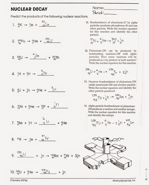 Nuclear Decay Worksheets Answers | Free Worksheets ...