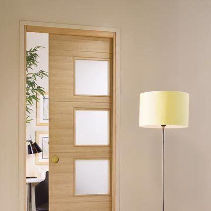 Des portes coulissantes pour agrandir et d corer votre for Lapeyre porte exterieure bois