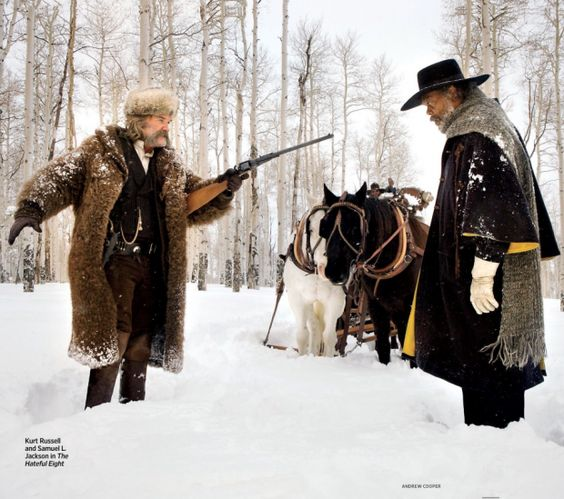 Омерзительная восьмерка Тарантино первые фото Сэмюэль Джексон Курт Рассел
