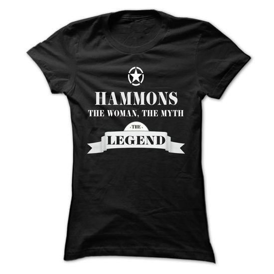 HAMMONS, the woman, the myth, the legend - #gift ideas for him #hostess gift. SATISFACTION GUARANTEED => https://www.sunfrog.com/Names/HAMMONS-the-woman-the-myth-the-legend-tikshumpga-Ladies.html?id=60505
