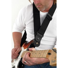 """Planet Waves : Dare Strap : Unique Dare designed strap : Adjustable from 35"""" to 59.5"""" long : Provides maximum comfort for standing situations : Strong and secure leather ends :  Distributes the weight of your instrument"""