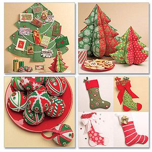 McCall's Pattern Holiday Decorations, 1 Size Only